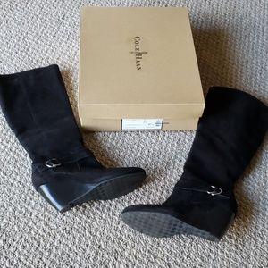 Cole Haan Size 6.5 B Black Suede Boots